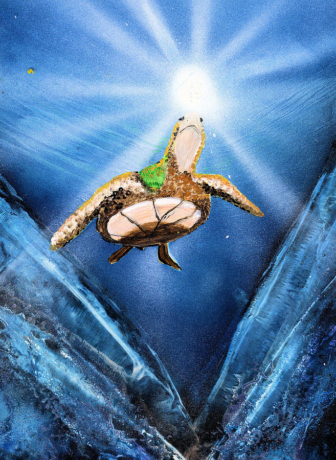 Sea Painting - Sea Turtle by Just Joszie