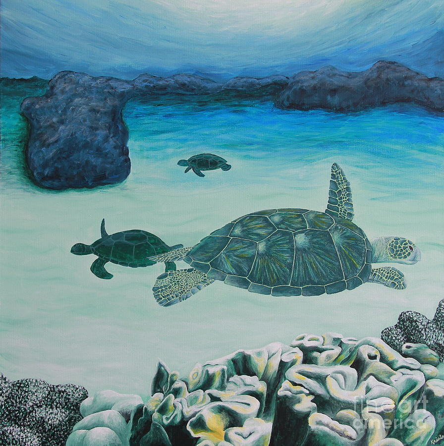 Sea Turtle Painting - Sea Turtles by Krista Kulas