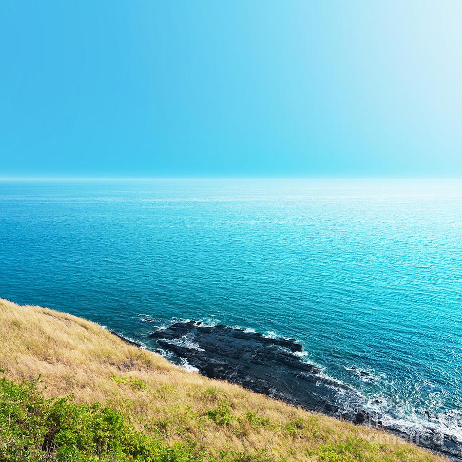 Andaman Photograph - Sea Views From Cliffs by Atiketta Sangasaeng