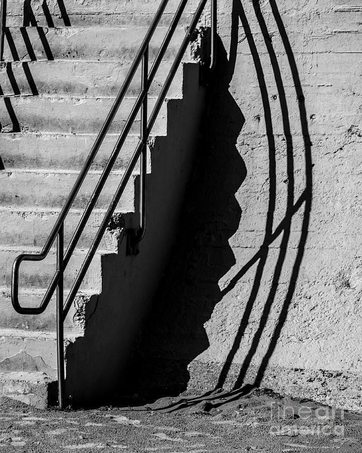 Shadow Photograph - Sea Wall Shadow by Perry Webster