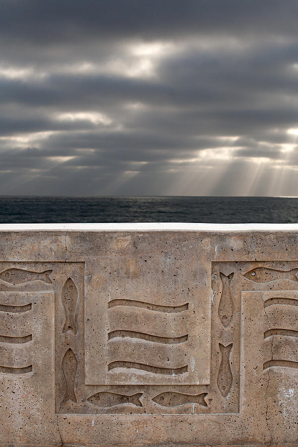 Beach Photograph - Sea Walls And Light Shafts by Peter Tellone