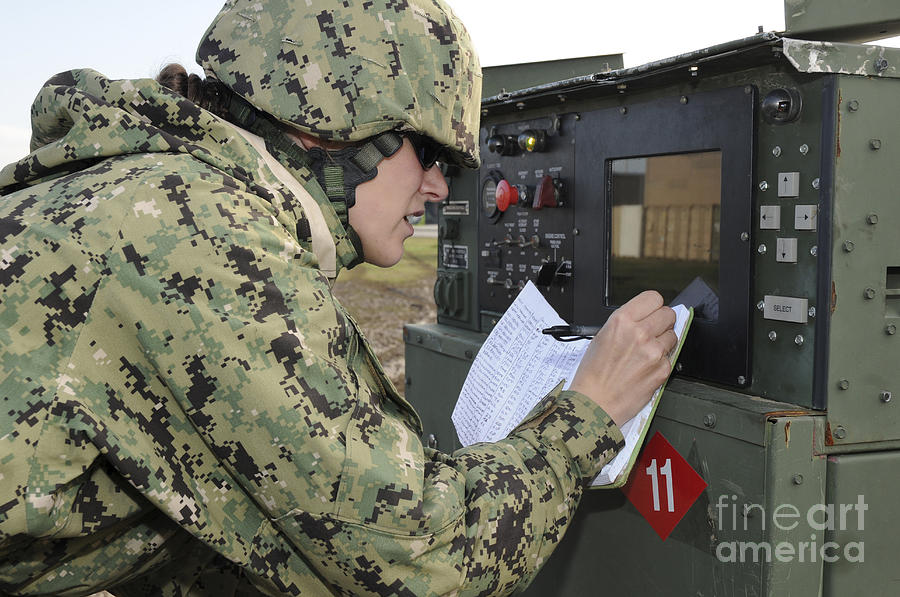 Seabee Completes A Generator Check by Stocktrek Images