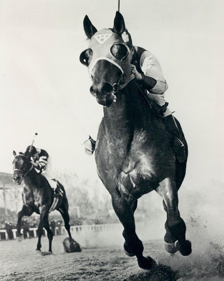 Classic Photograph - Seabiscuit Horse Racing #3 by Retro Images Archive