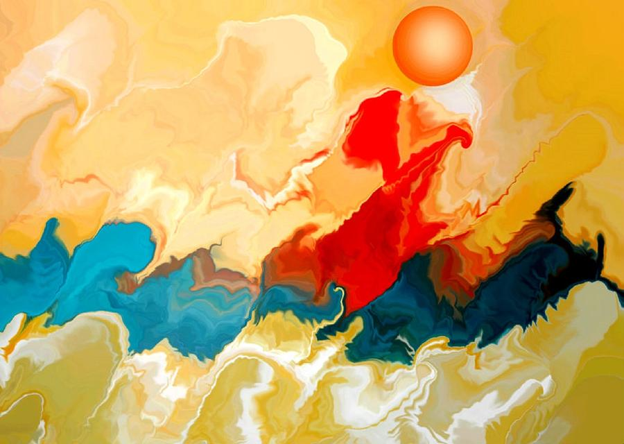 Color Digital Art - Seacape by Joseph Ferguson