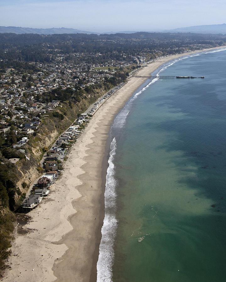 Santa Cruz Photograph - Seacliffe Beach Coastline by Neal Martin