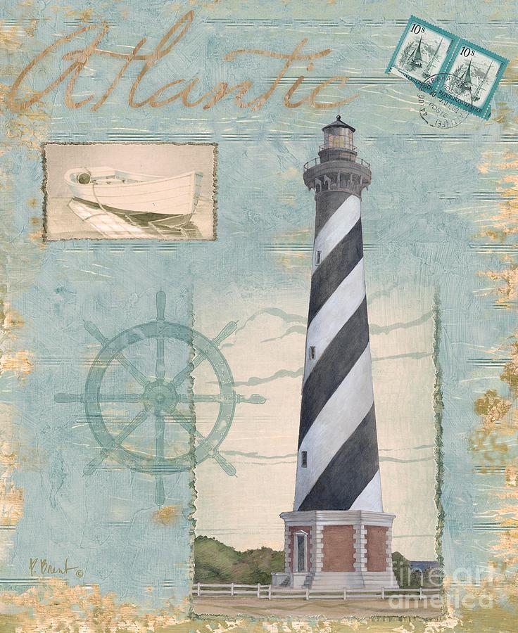 Cape Hatteras Painting - Seacoast Lighthouse I by Paul Brent