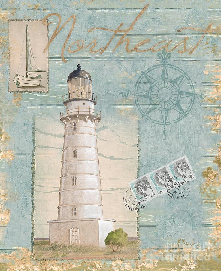 Cape Hatteras Painting - Seacoast Lighthouse II by Paul Brent