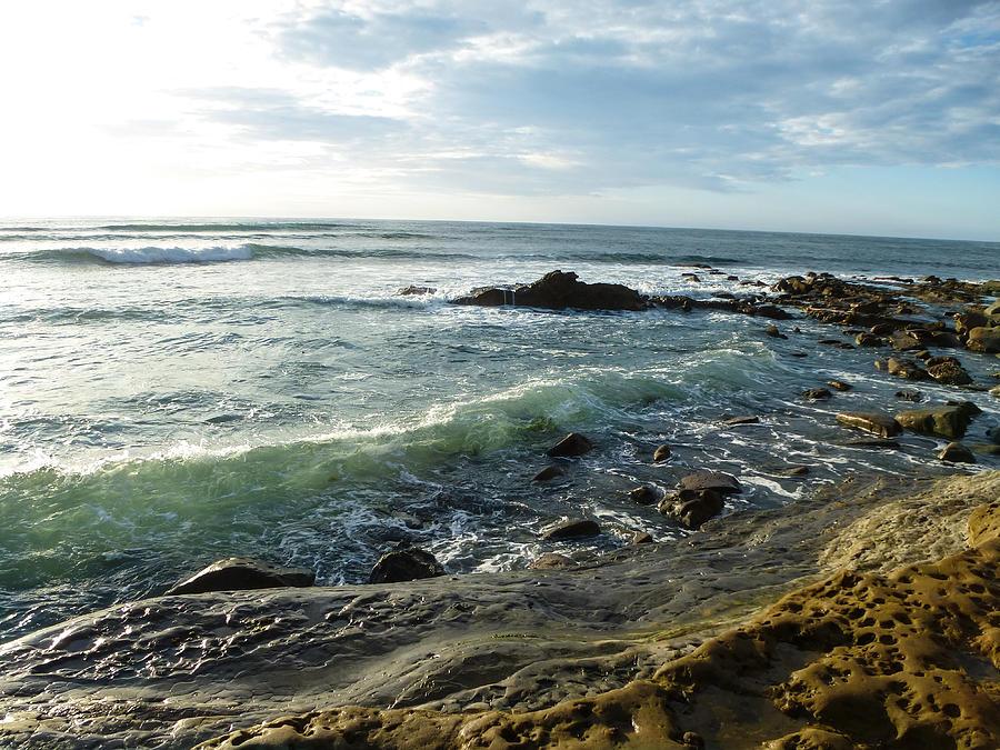 Seafoam Waves Photograph