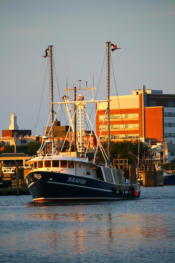 Boat Photograph - Seafox At Sunset by Veronica Vandenburg