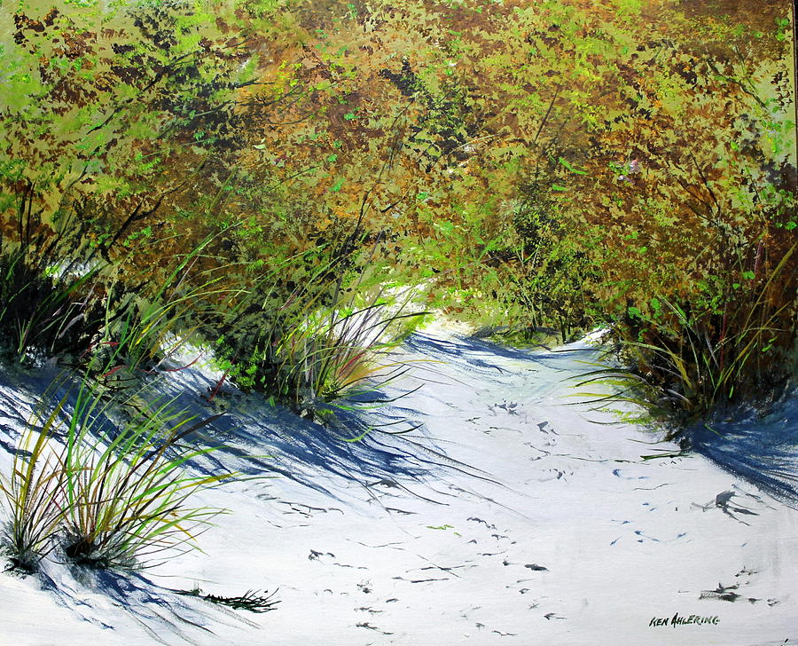 Shore Painting - Seagrass by Ken Ahlering