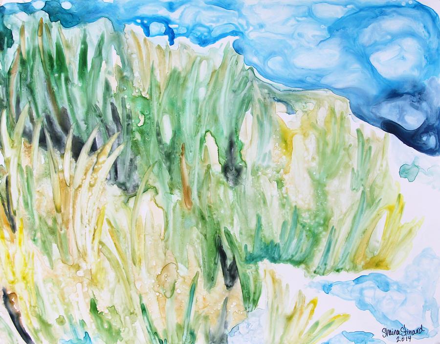 Ocean Painting - Seagrass Sonata by Shaina Stinard