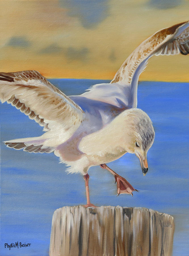Animal Painting - Seagull Ballet by Phyllis Beiser