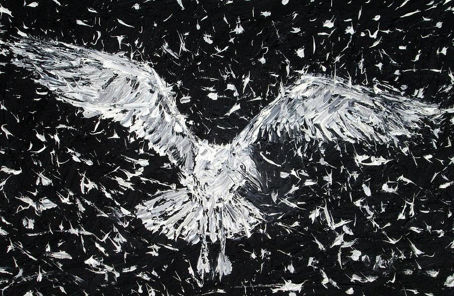 Seagull Painting - Seagull - Oil Portrait by Fabrizio Cassetta
