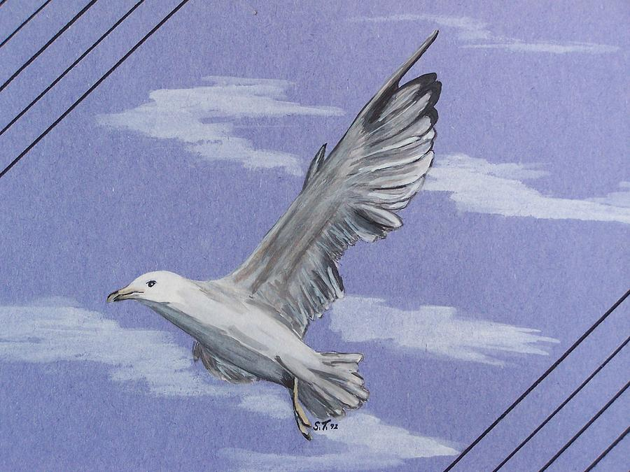 Seagull Painting - Seagull by Susan Turner Soulis