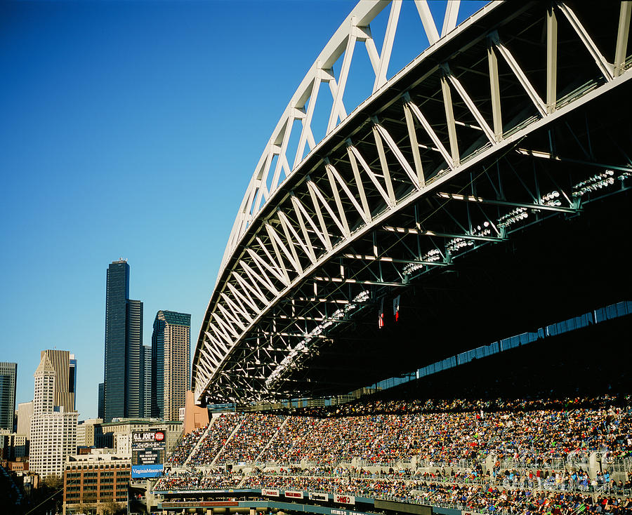 Centurylink Field Photograph - Seahawks Stadium 5 by Tracy Knauer