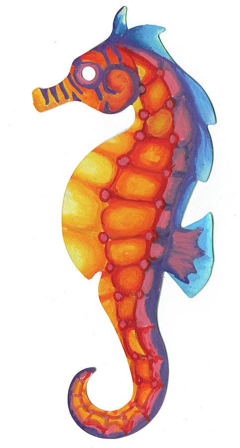 Seahorse Painting by Adam Johnson