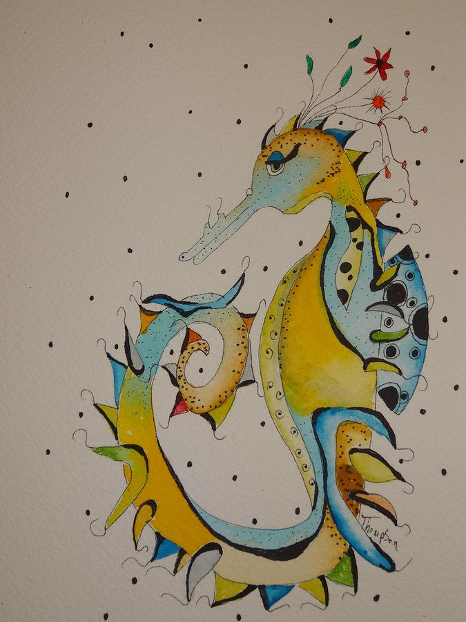 Sea Painting - Seahorse by Michelle Thompson