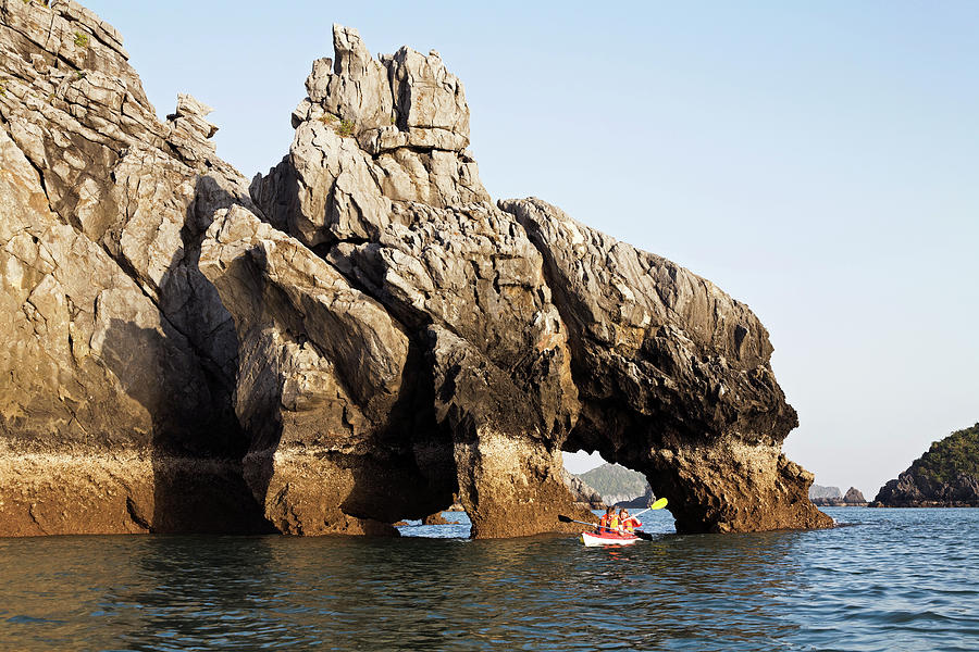 Seakayaking In Halong Bay Past Double Photograph by Anders Blomqvist