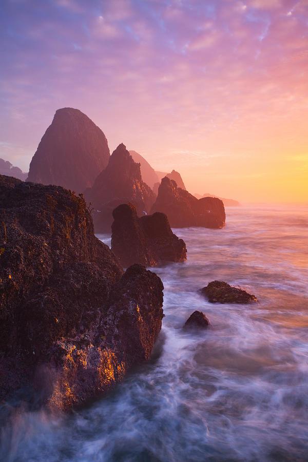 Seal Rock Sunset Photograph