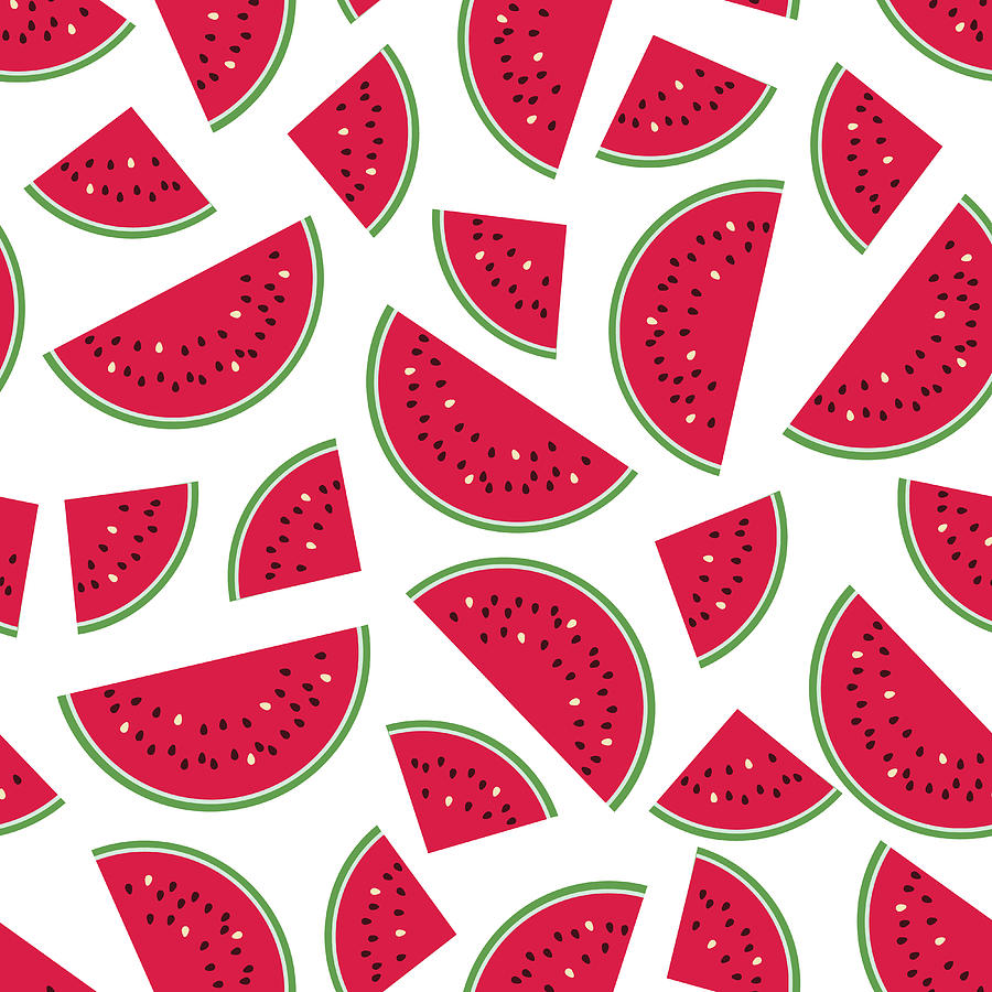 Seamless Colorful Pattern With Red Digital Art by Ekaterina Bedoeva