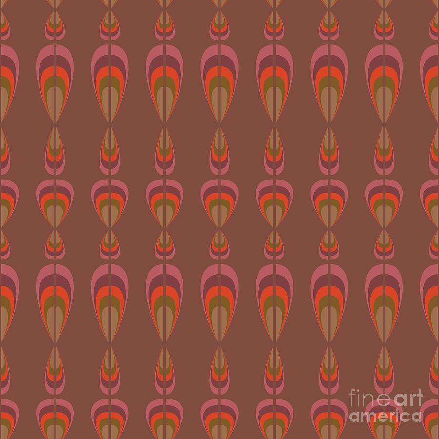 Upholstery Digital Art - Seamless Geometric Vintage Wallpaper by Leszek Glasner