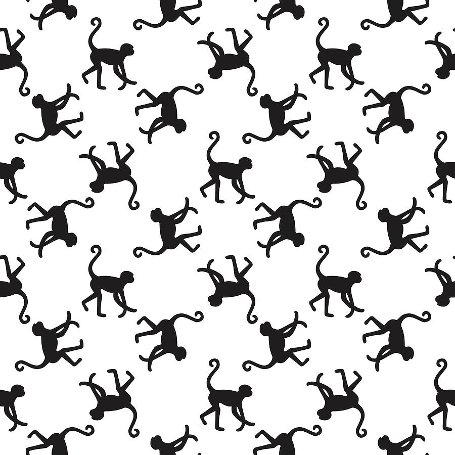 Seamless Pattern Background With Digital Art by In dies magis