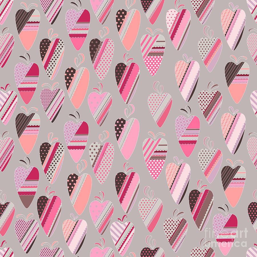 Romance Digital Art - Seamless Pattern With  Vintage Tilda by Anna Tyukhmeneva