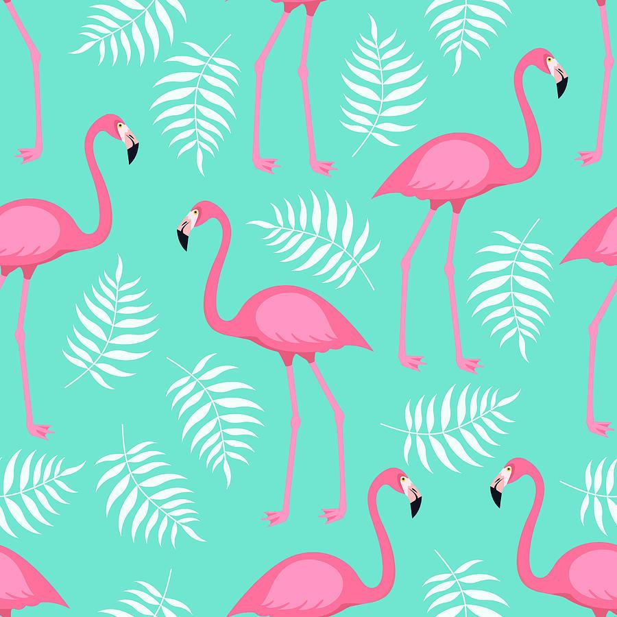 Seamless Trendy Tropical Pattern With Digital Art by Ekaterina Bedoeva