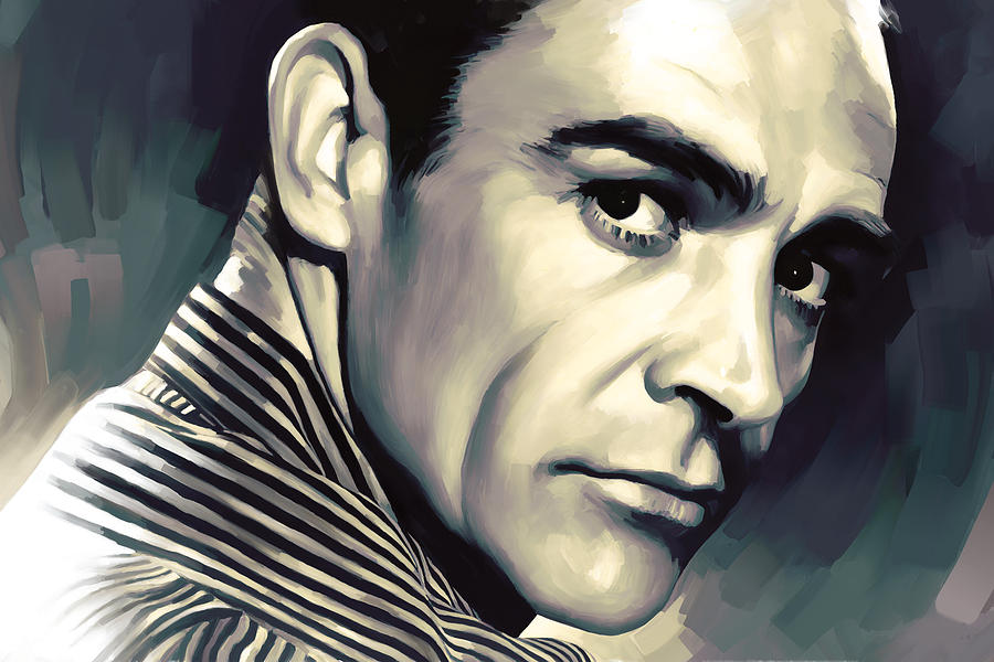 Celebrity Canvas Prints Painting - Sean Connery Artwork by Sheraz A