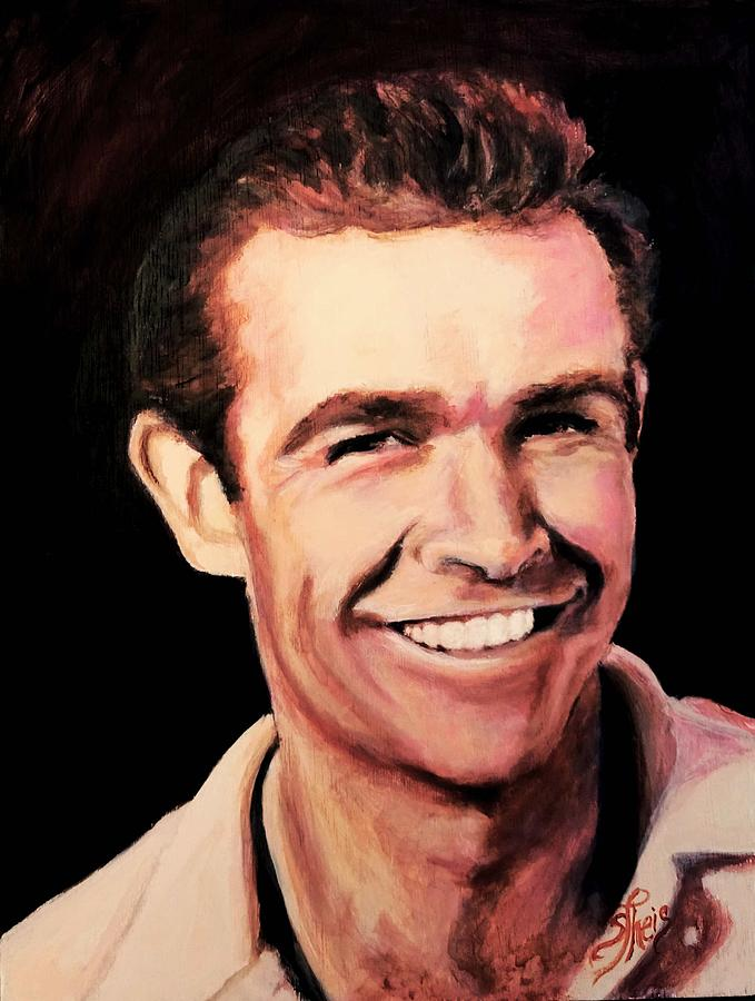 Young Sean Connery Painting - Sean Connery by Shirl Theis