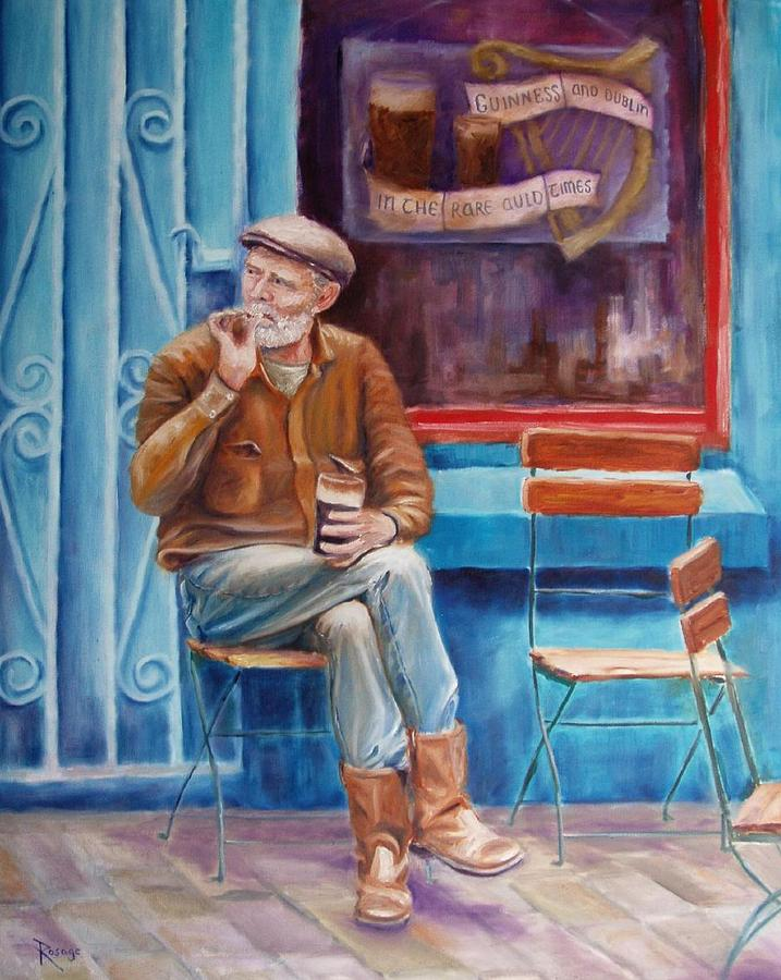 Dublin Painting - Sean Demsey And The Rare Auld Times by Bernie Rosage Jr