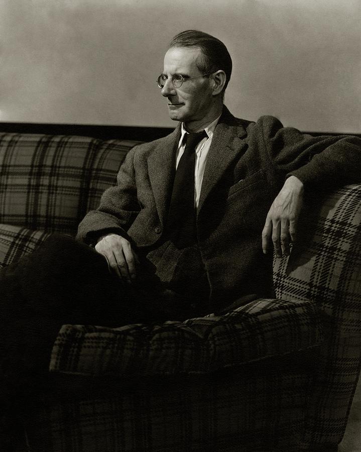 Sean Ocasey Sitting On A Sofa Photograph by Lusha Nelson
