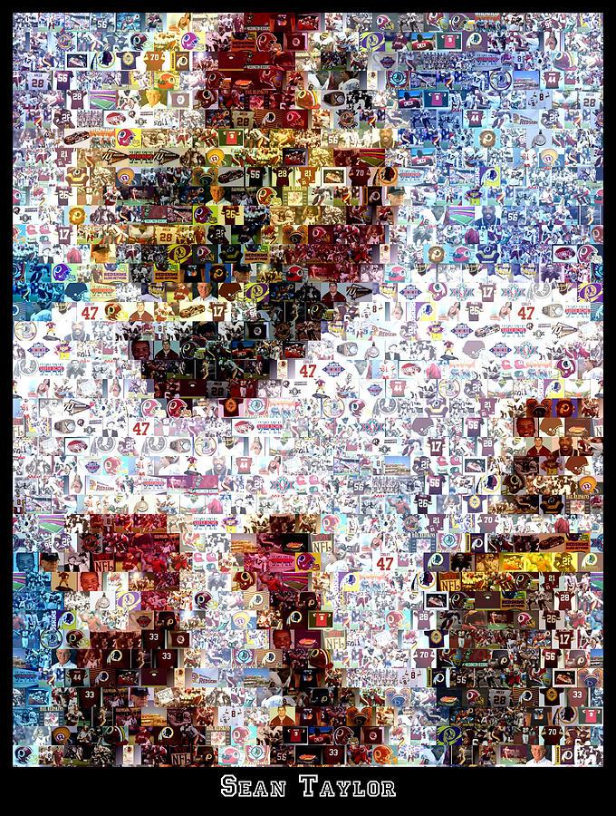 Sean Taylor Mosaic Photograph