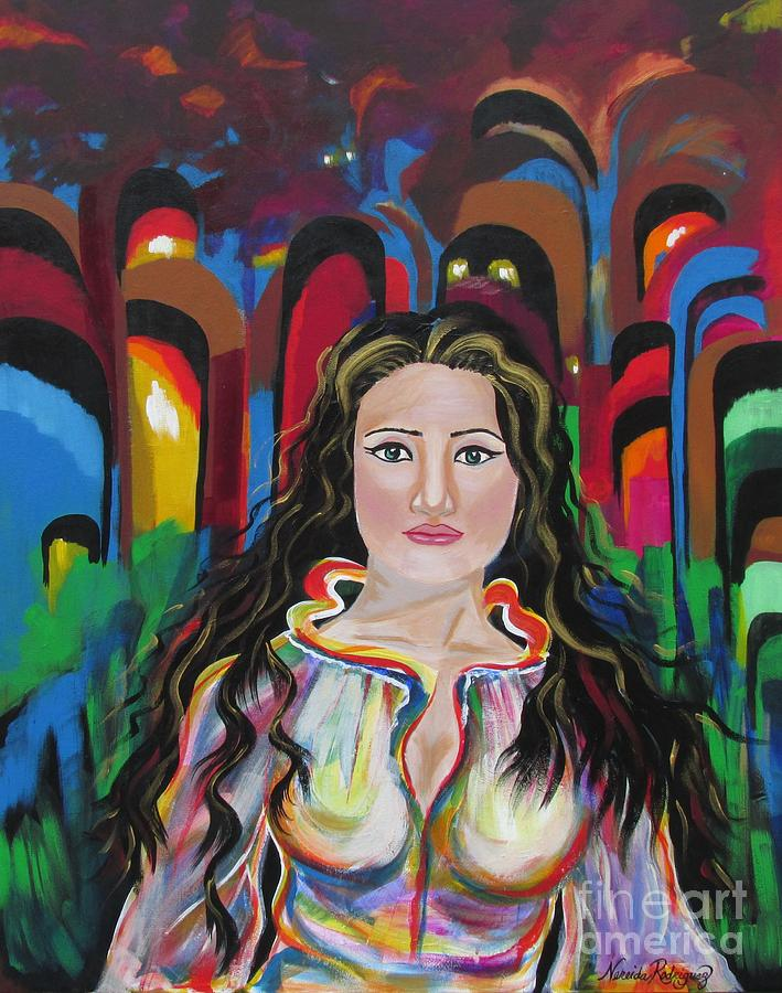 Search Painting - Searching The Path by Nereida Rodriguez