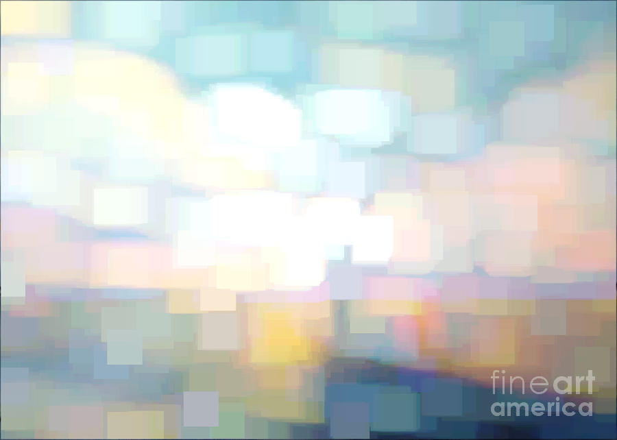 Abstract Digital Art - Seascape Abstracted by Karen Francis