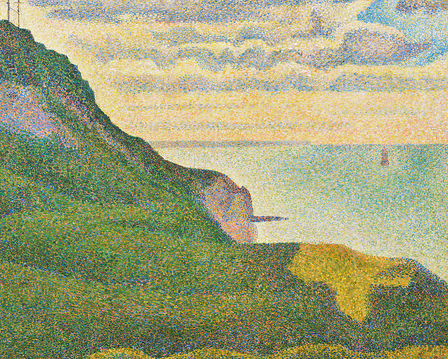 Cliff Painting - Seascape At Port En Bessin Normandy by Georges Seurat