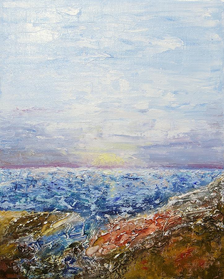 Seascape Painting - Seascape by Draia Coralia