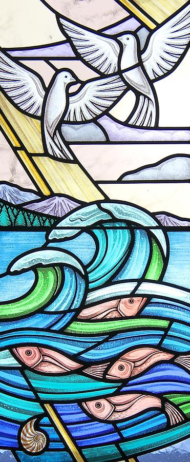 Stained Glass Glass Art - Seascape by Gilroy Stained Glass