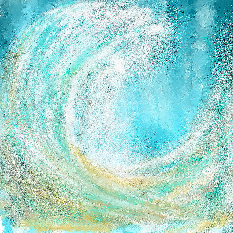 Seascapes Abstract Art - Mesmerized Painting