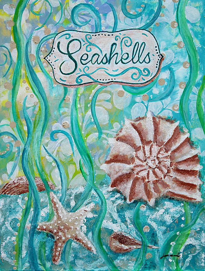 Seashells Painting - Seashells II by Jan Marvin