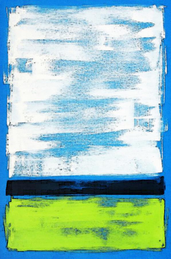 Color Blocks Painting - Seaside - Abstract Modern Art By Sharon Cummings by Sharon Cummings