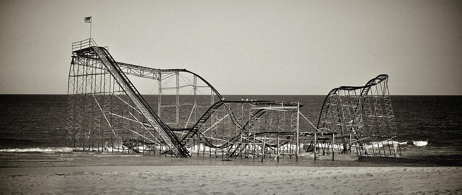 The Jet Star Photograph - Seaside After Sandy by Mark Miller