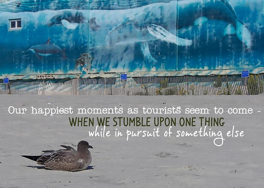 Seaside Photograph - Seaside Art Gallery Quote by JAMART Photography