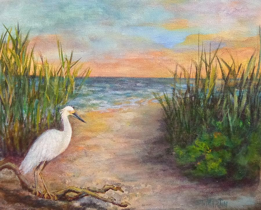 Water Birds Painting - Seaside Dining by Annie St Martin
