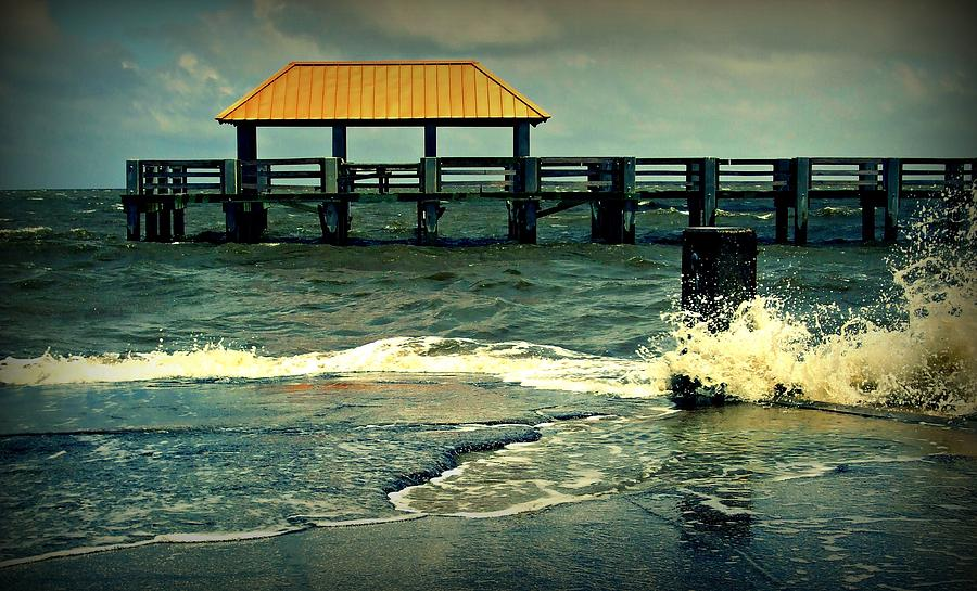 Beach Photograph - Seaside Dock by Ali Dover