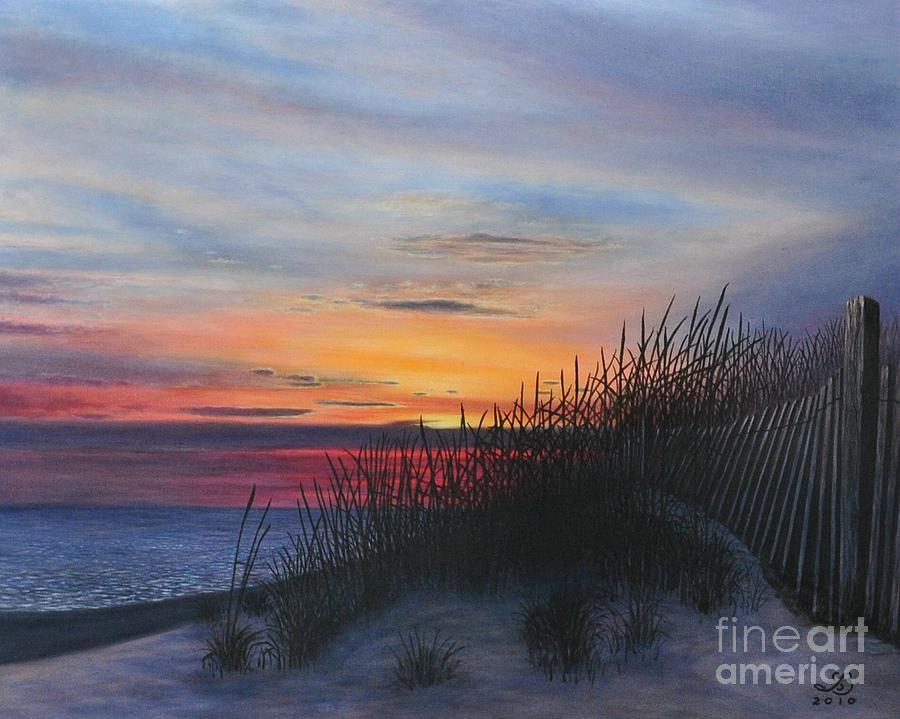 Seaside Painting By J Barth