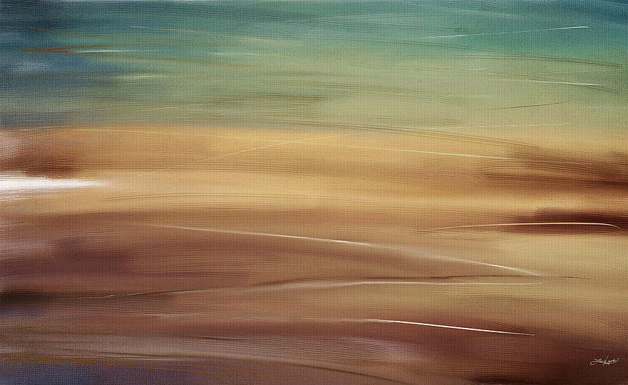 Seascapes Abstract Digital Art - Seaside by Lourry Legarde