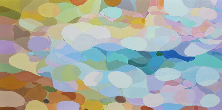 Abstract Painting - Seaside Serenade by Mike Paget
