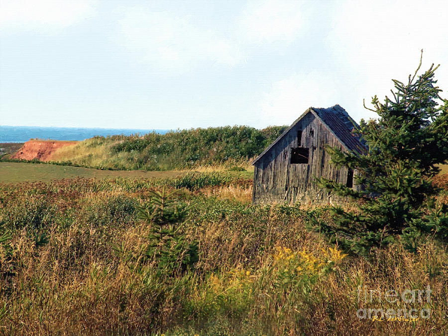 Landscape Painting - Seaside Shed - September by RC DeWinter