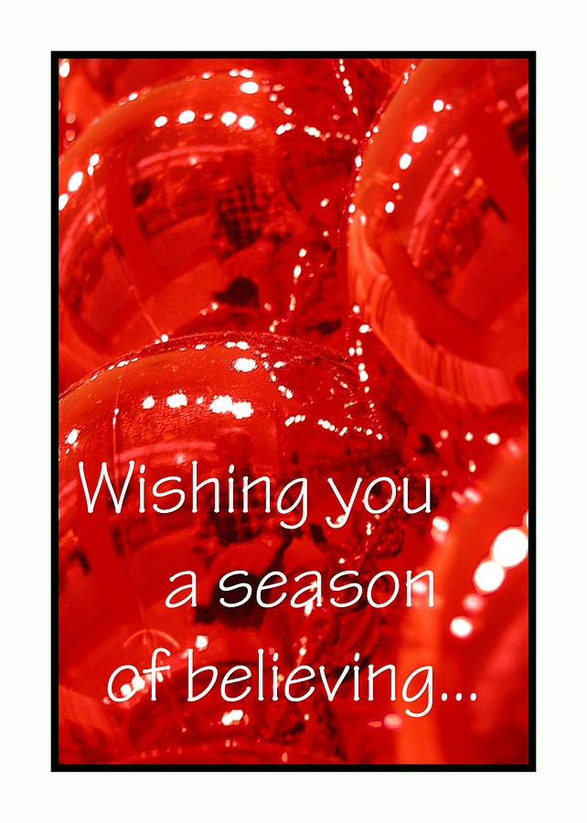 Season Of Believing 5607 Photograph